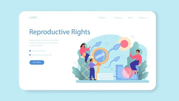 Banner da web ou página de destino de educação sexual