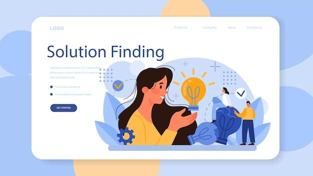Banner da web ou página de destino de ideias