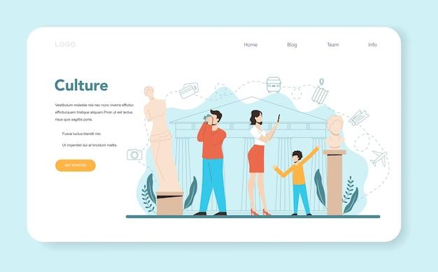 Banner da web ou página de destino do agente de viagens