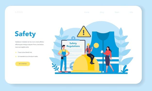 Banner da web ou página de destino do conceito osha