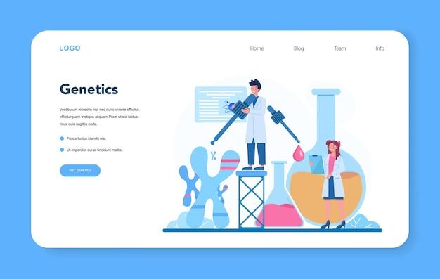Banner da web ou página de destino do geneticista