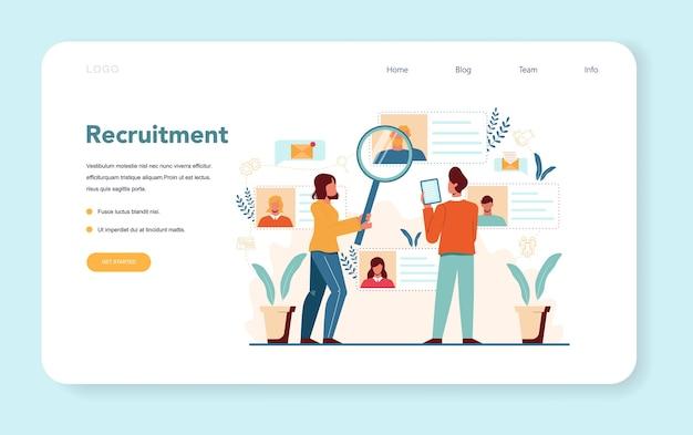 Banner da web ou página de destino do gerente de recursos humanos