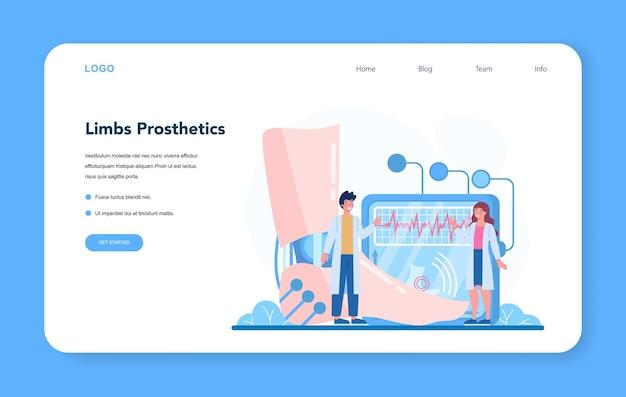 Banner da web ou página de destino para médicos ortopédicos