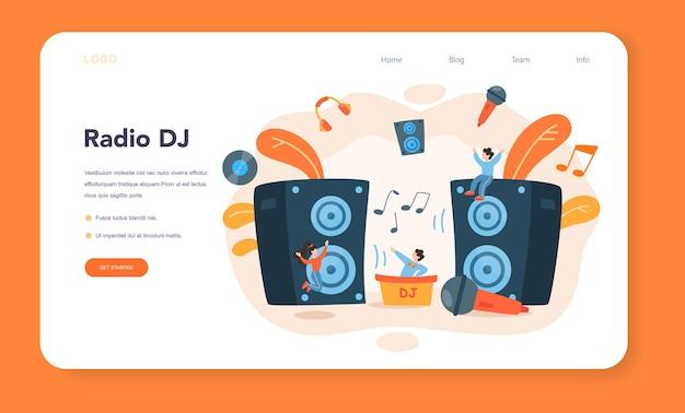 Banner da web ou página inicial de dj