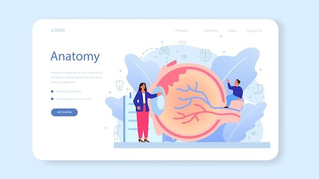 Banner da web ou página inicial de matéria escolar de anatomia