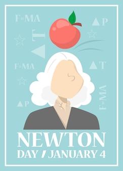 Banner da web para o dia de newton em janeiro