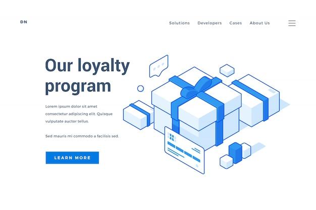 Banner da web para o programa de fidelidade da loja on-line