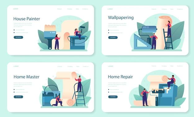 Banner da web para papel de parede ou conjunto de páginas de destino
