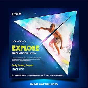 Banner da web viagens férias turismo