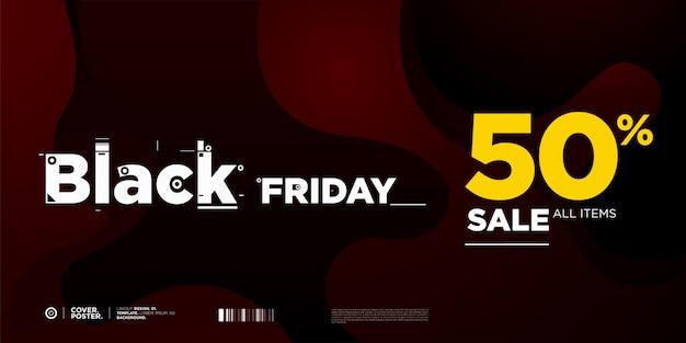 Banner de 50% de venda sexta-feira negra