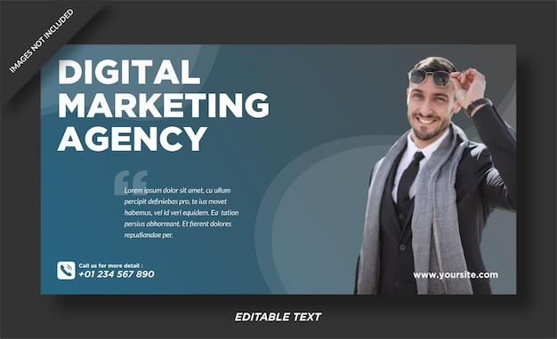 Banner de agência de marketing digital e modelo de mídia social