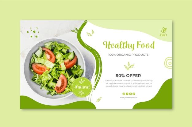 Banner de alimentos bio e saudáveis