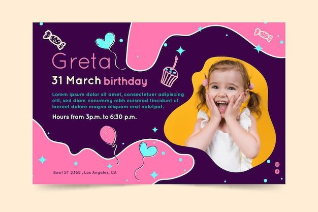 Banner de aniversário infantil