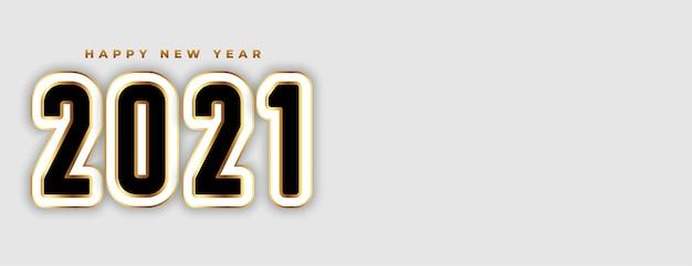 Banner de ano novo em estilo 3d