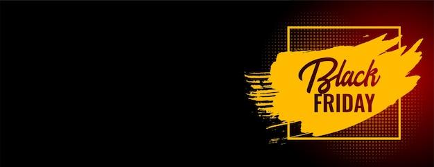 Banner de anúncio da web de venda na sexta-feira preta com espaço de texto
