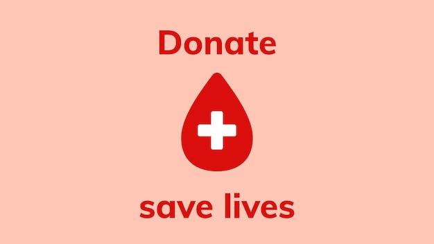 Banner de anúncio de doação para salvar vidas vetor saúde caridade