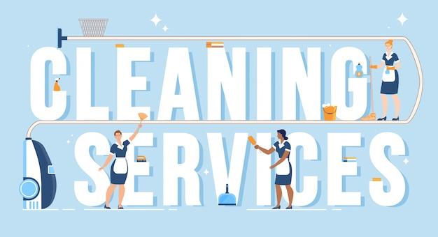 Banner de anúncio plano de empresa de limpeza doméstica