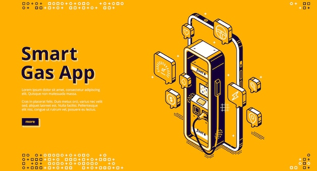 Banner de aplicativo de gás inteligente