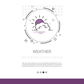 Banner de aplicativo de previsão do tempo