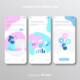 Banner de aplicativo móvel desenhado de mão
