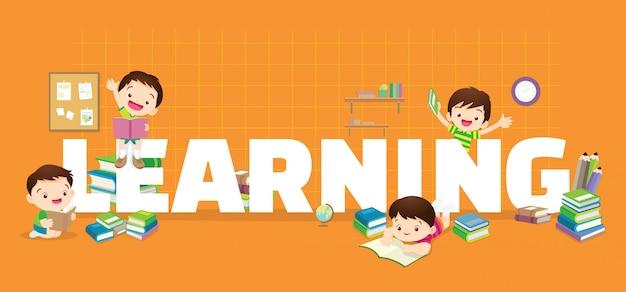 Banner de aprendizagem para crianças