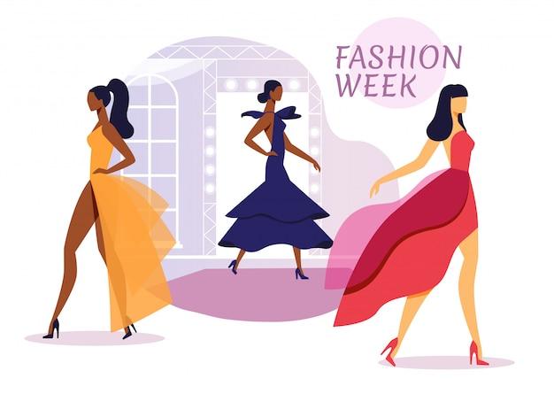Banner de apresentação de coleção de vestidos