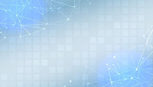 Banner de apresentação digital azul com espaço de texto
