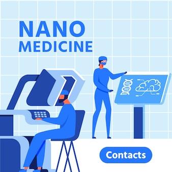 Banner de apresentação do nano medicine research center