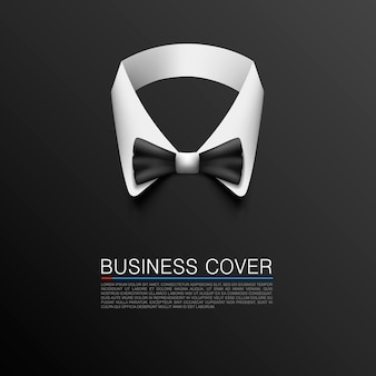 Banner de arte de capa de terno de negócios. ilustração vetorial