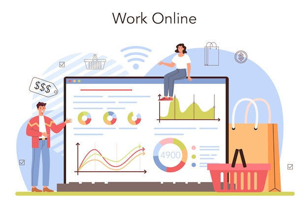 Banner de atividade comercial na web ou estimulação de vendas de página de destino