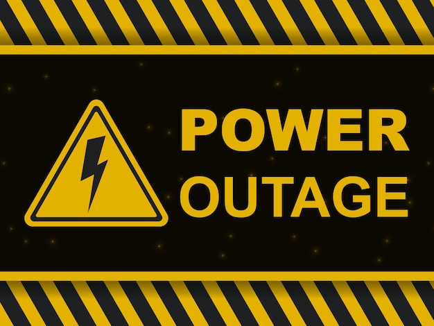 Banner de aviso de queda de energia
