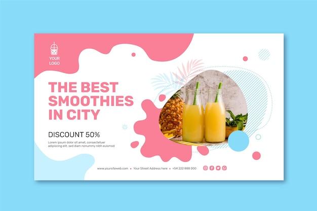 Banner de barra de smoothies