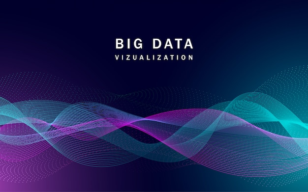 Banner de big data de visualização