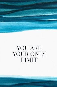 Banner de blog de estética de vetor de modelo de aquarela de citação positiva