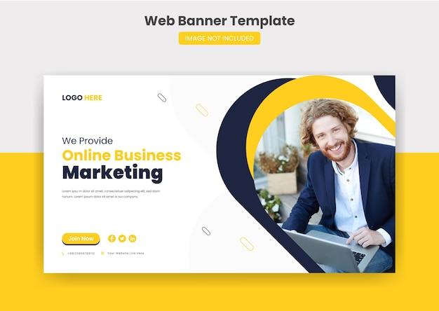 Banner de capa da web comercial e modelo de postagem em mídia social em miniatura do youtube