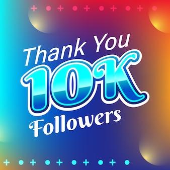 Banner de cartão de 10k seguidores