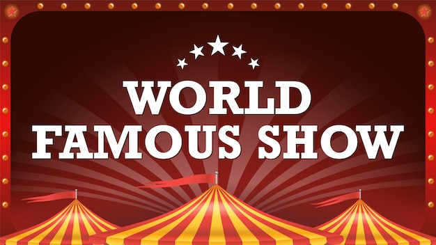 Banner de cartaz de circo.