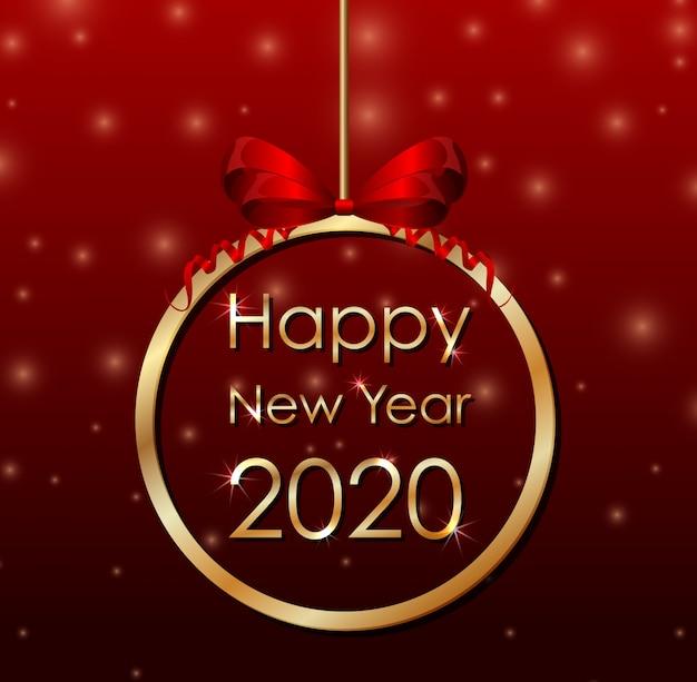 Banner de cartaz para o ano novo 2020