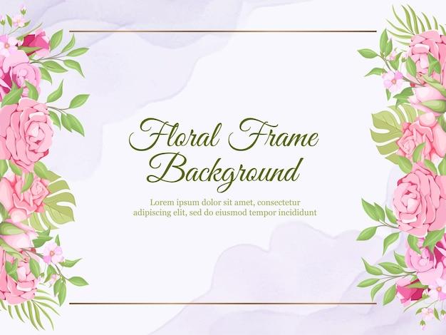 Banner de casamento pano de fundo verão design floral