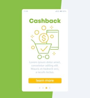 Banner de cashback, celular