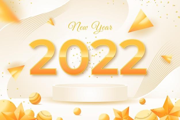 Banner de celebração de ano novo de 2022