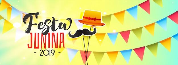 Banner de celebração para festa junina