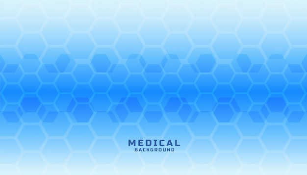Banner de ciência médica com formas hexagonais