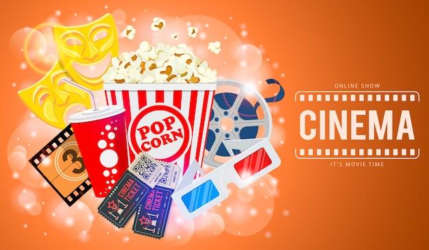 Banner de cinema e filme