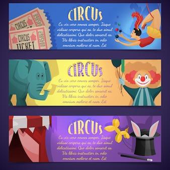 Banner de circo horizontal