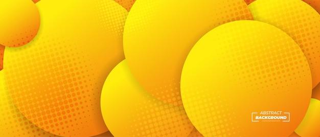 Banner de círculos 3d abstrato
