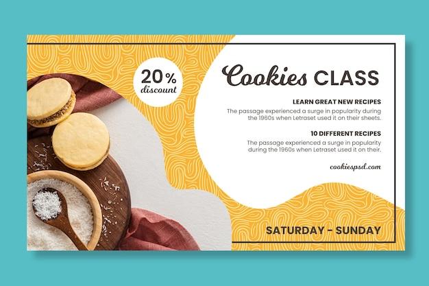 Banner de classe de confeitaria de biscoitos