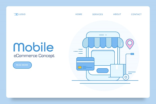 Banner de comércio eletrônico para celular