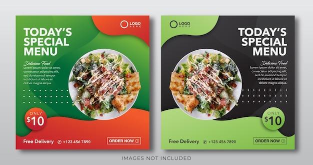 Banner de comida para modelo de postagem de mídia social
