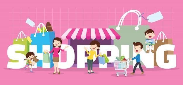 Banner de compras da família